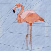 Flamingo patchwork patroon