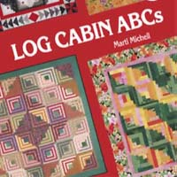 Workshop log cabin met Marti Mitchell liniaal