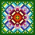 Gratis patchwork patroon blok van de maand