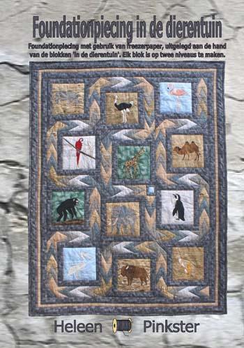 Foundationpiecing in de dierentuin - boek Heleen Pinkster