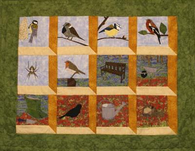 Tuin quilt ontwerp heleen uitvoering wilma